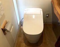 節水力がupしたPanasonicアラウーノS160に交換、合わせて浴室水栓も交換させて頂きました