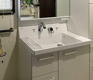 水漏れしている洗面化粧台を新しく☆(LIXIL ピアラ)
