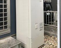 栗東市にて蛇口・シャワーからお湯が出ない電気温水器をエコキュートへ交換しました。