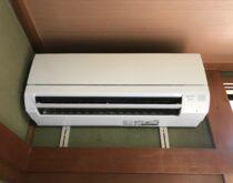 寝室のエアコンを三菱の霧ヶ峰に交換しました